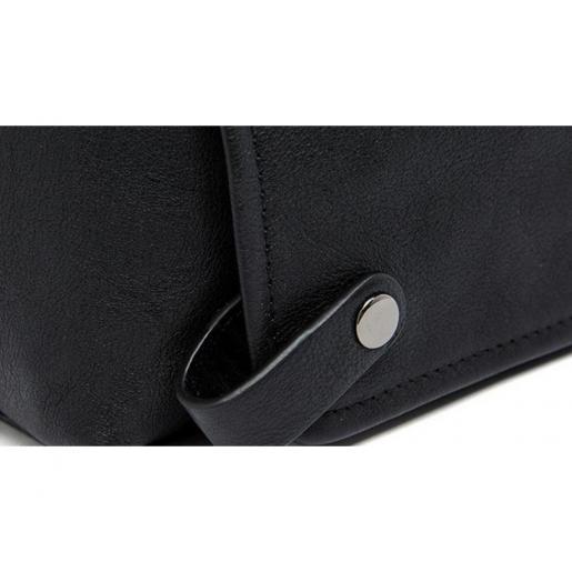 Практичная мужская черная сумка для ноутбука и книг