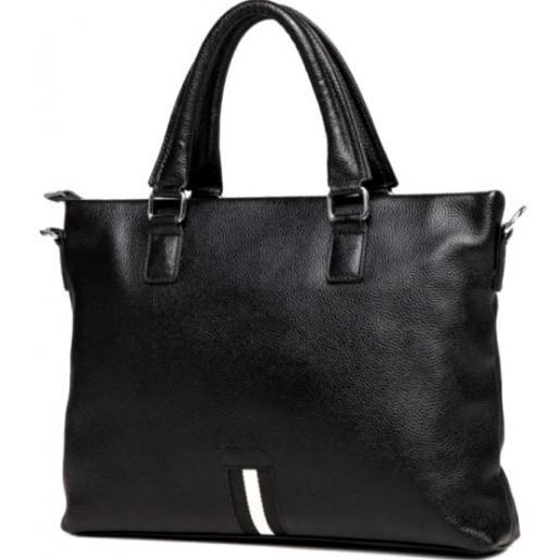 Мужская сумка из кожи черного цвета Royal 021A-1U от магазина Натали