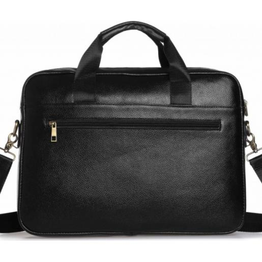 Мужская черная кожаная сумка-портфель Tiding 1131AU