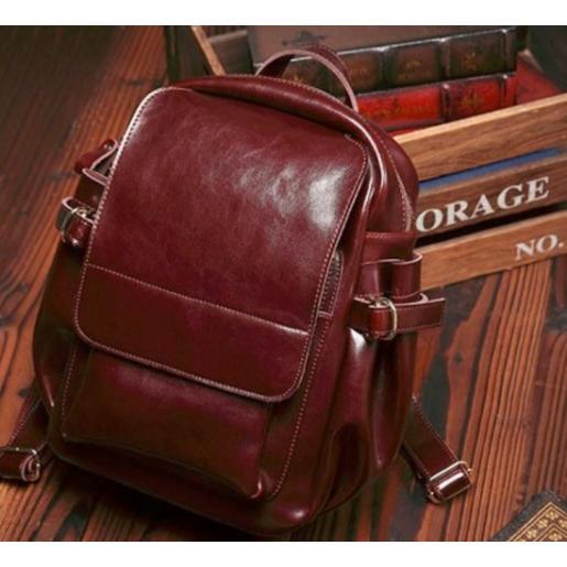 Рюкзак кожаный женский Grays 8128CHU Бордовый