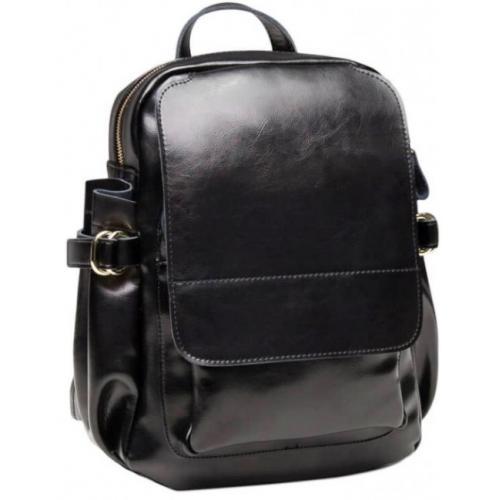 Женский кожаный рюкзак Grays 8128AU Черный