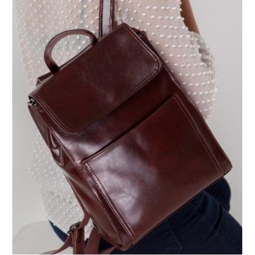 Женский кожаный рюкзак Grays GR3-806BO-BPU Коричневый
