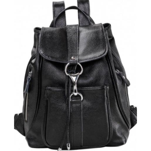 Кожаный женский рюкзак Olivia22A-BP Черный