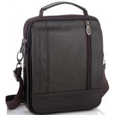 Мужская кожаная сумка коричневая Leather NM24-213C-1U Коричневый