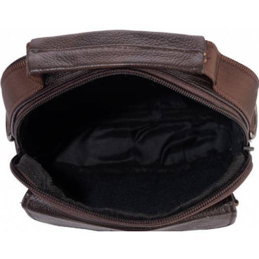 Мужская кожаная сумка Leather NM24-1079CU