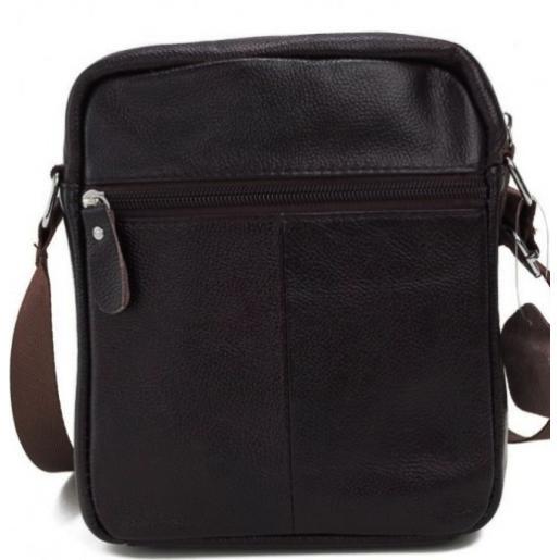 Мужская кожаная сумка - мессенджер A25-1108CU Коричневый