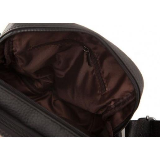 Мужская сумка кожаная на два отделения Черный