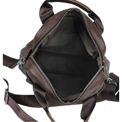 Мужская кожаная сумка Tiding 8861BU Коричневый