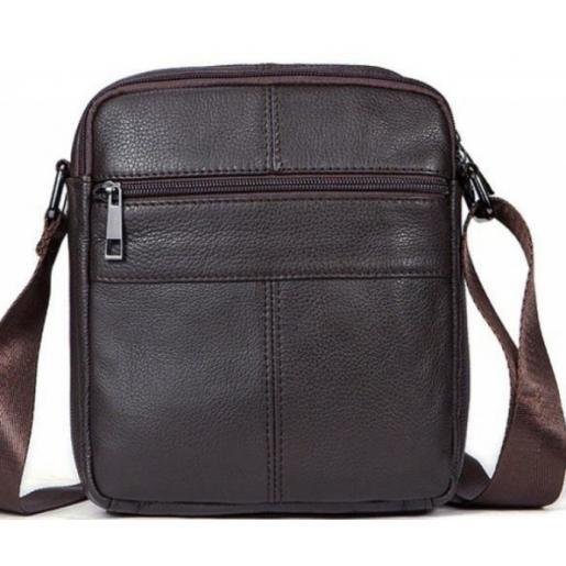 Кожаная мужская сумка 14759U Коричневый
