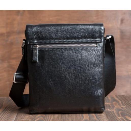 Мужская сумка-мессенджер из кожи Tiding 1001-1AU Черный