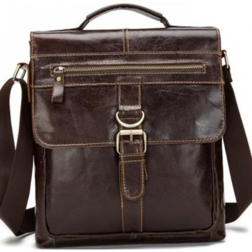 Мужская сумка кожаная Bexhill 1292CU Коричневый