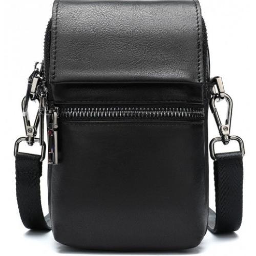 Кожаная сумка для мужчин 20017U Чёрный