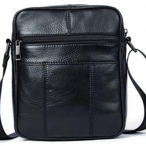 Кожаная мужская сумка  14909U Чёрный