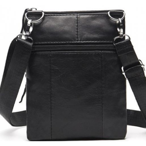 Мужская кожаная сумка 14607U Чёрный