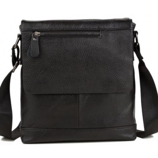 Мужская кожаная сумка Tiding 8146AU Чёрный