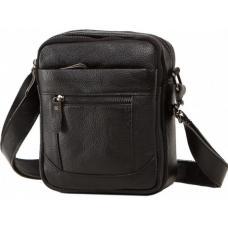 Мужская кожаная сумка A25-223AU Чёрный