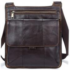 Мужская кожаная сумка  14742U Винтаж Коричневый