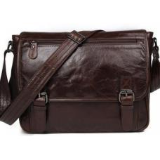 Мужская кожаная сумка Maine& Jasper 7022C Коричневый
