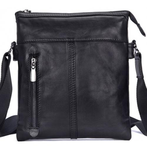 Мужская кожаная сумка на плечо Tiding 80261AU Черный