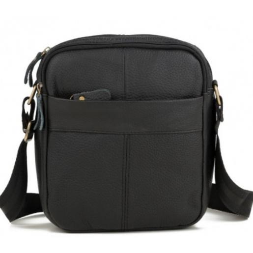 Кожаная мужская сумка M38-1025AU Черный