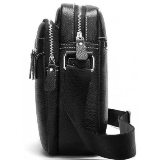 Мужская кожаная сумка городского стиля