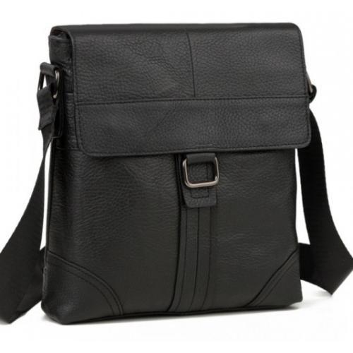 Мужская сумка из натуральной кожи M38-1712AU Чёрный