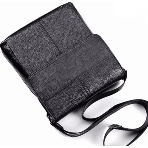 Мужская кожаная сумка M38-3107AU Чёрный