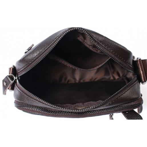Мужская сумка из кожи A25-223CU Коричневый
