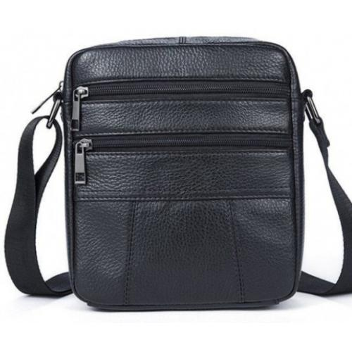Кожаная мужская сумка 14758U Чёрный
