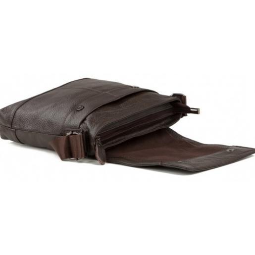 Мужская сумка на плечо Tiding 3822CU Коричневая