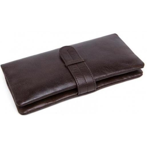 Мужской кожаный клатч-барсетка Bexhill 9202U Коричневый
