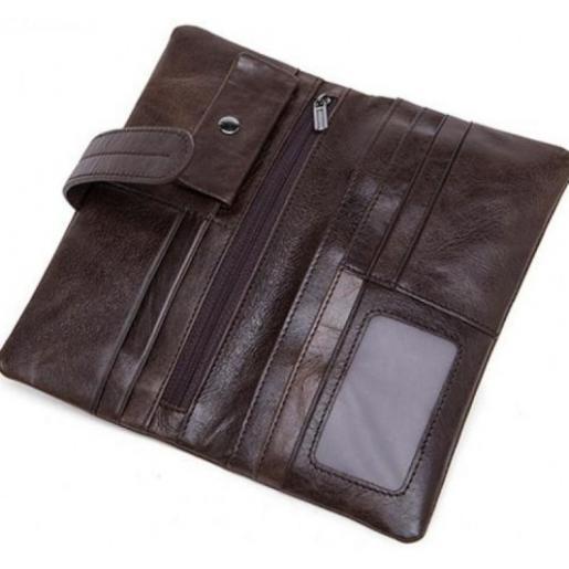Мужской кожаный клатч-барсетка 9202U Коричневый