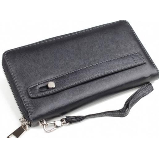 Клатч кожаный для мужчин Horton 8872U Черный