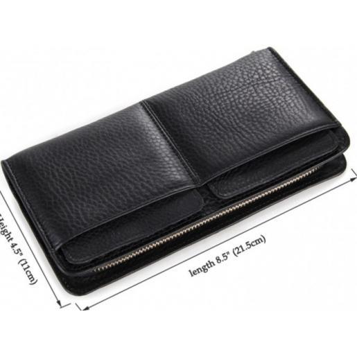 Мужской кожаный клатч-барсетка Tiding 8069AU Черный