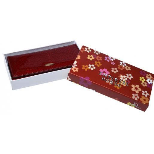 Женский кожаный кошелек BR00-01b Бордовый