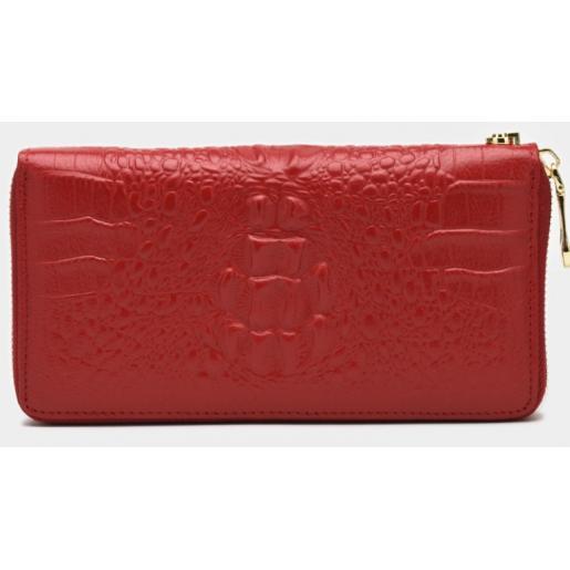 Женский кожаный кошелек 15-201BR Красный