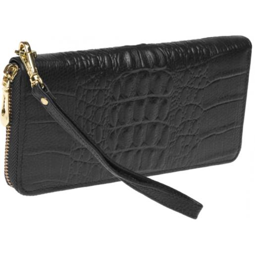Кожаный женский кошелек BR15-201 Черный