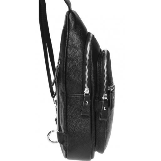 Мужской кожаный рюкзак K150-60 black