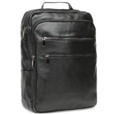 Мужской кожаный рюкзак черный K15-19BR