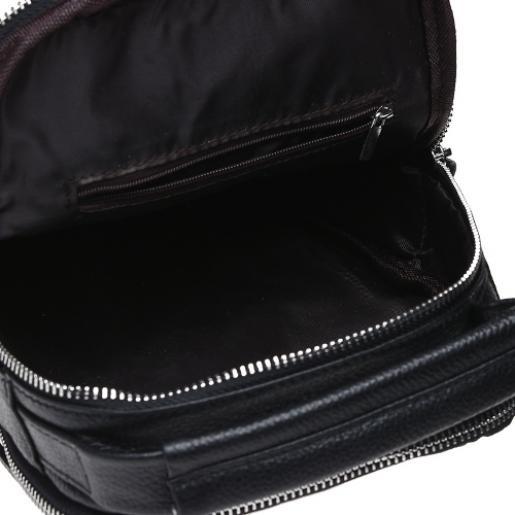 Кожаный мужской рюкзак Solier K186-93 black