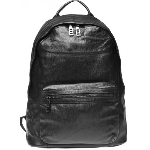 Мужской кожаный рюкзак Solier K11-1683 black