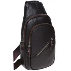 Кожаный мужской рюкзак K166-03 brown