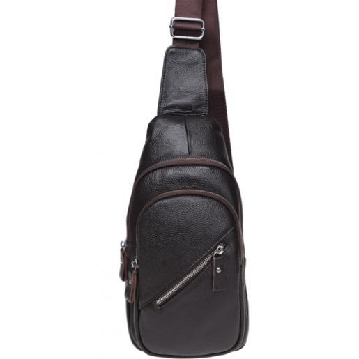 Кожаный мужской рюкзак K166/03 brown