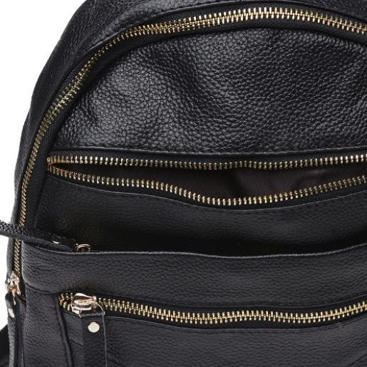 Кожаный женский рюкзак Keizer K11039N Черный