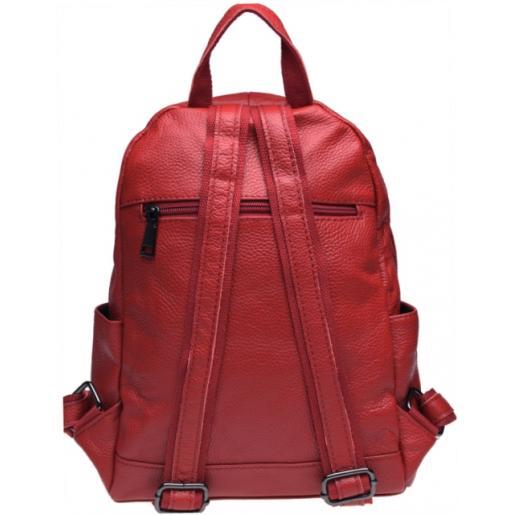 Женский рюкзак из натуральной кожи Keizer K110086 Красный