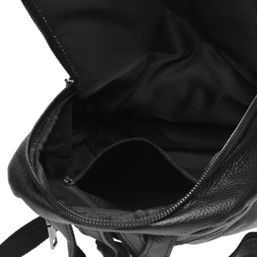 Кожаный женский рюкзак Keizer K18833N Черный