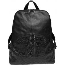 Кожаный женский рюкзак  Keizer K1152N Черный