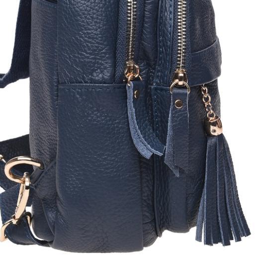 Кожаный женский рюкзак Keizer K11032N Синий