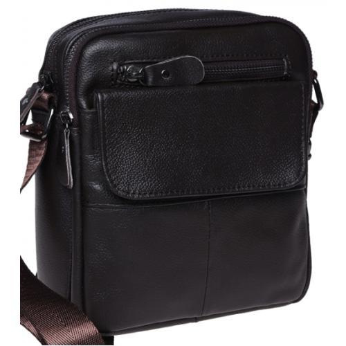 Мужская кожаная сумка на плечо Leather 100/316 Коричневый