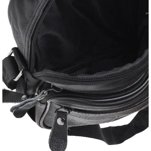 Мужская черная кожаная сумка Keizer K103bN